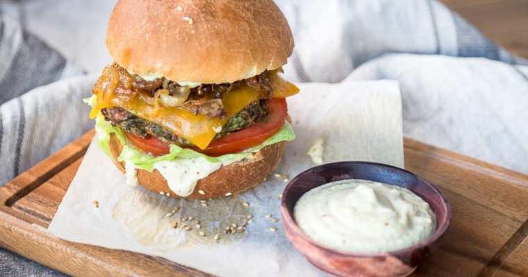 Burger Végétarien – Galettes Aubergine Cheddar