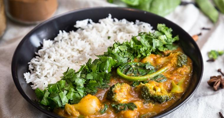 Curry de légumes vegan
