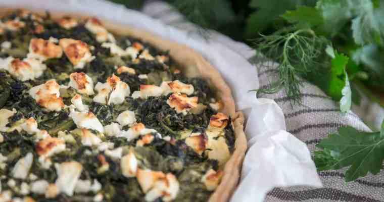 Tarte épinards fêta aux herbes fraîches
