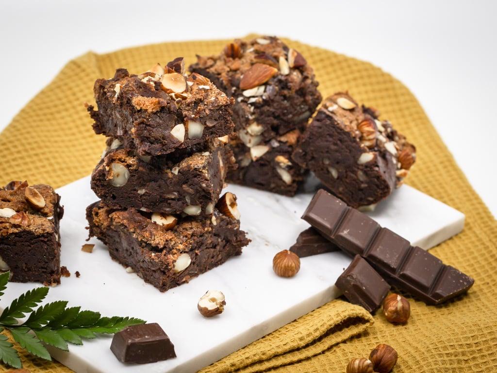 Brownie Vegan en croûte d'Amande