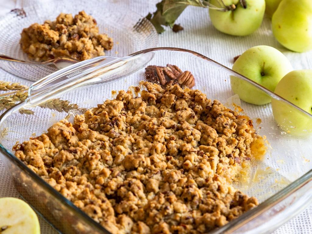 Crumble Pommes Miel et Noix de Pécan