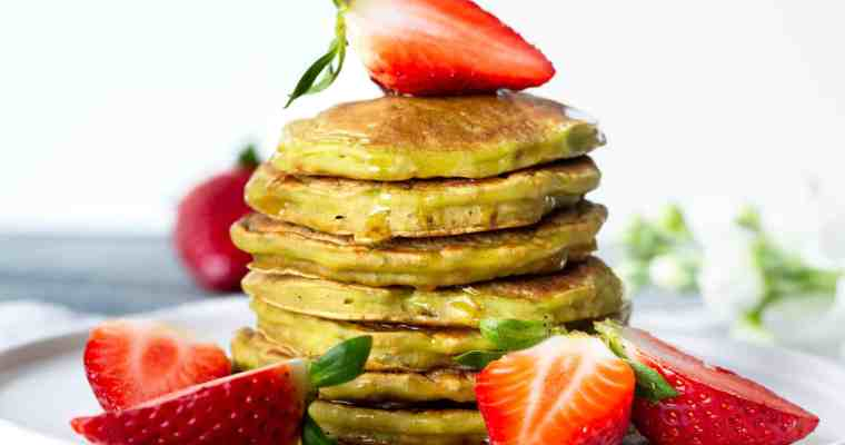 Pancakes Vegan au Matcha