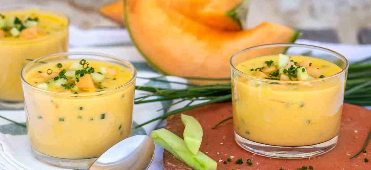 Soupe froide de Melon et Ciboulette