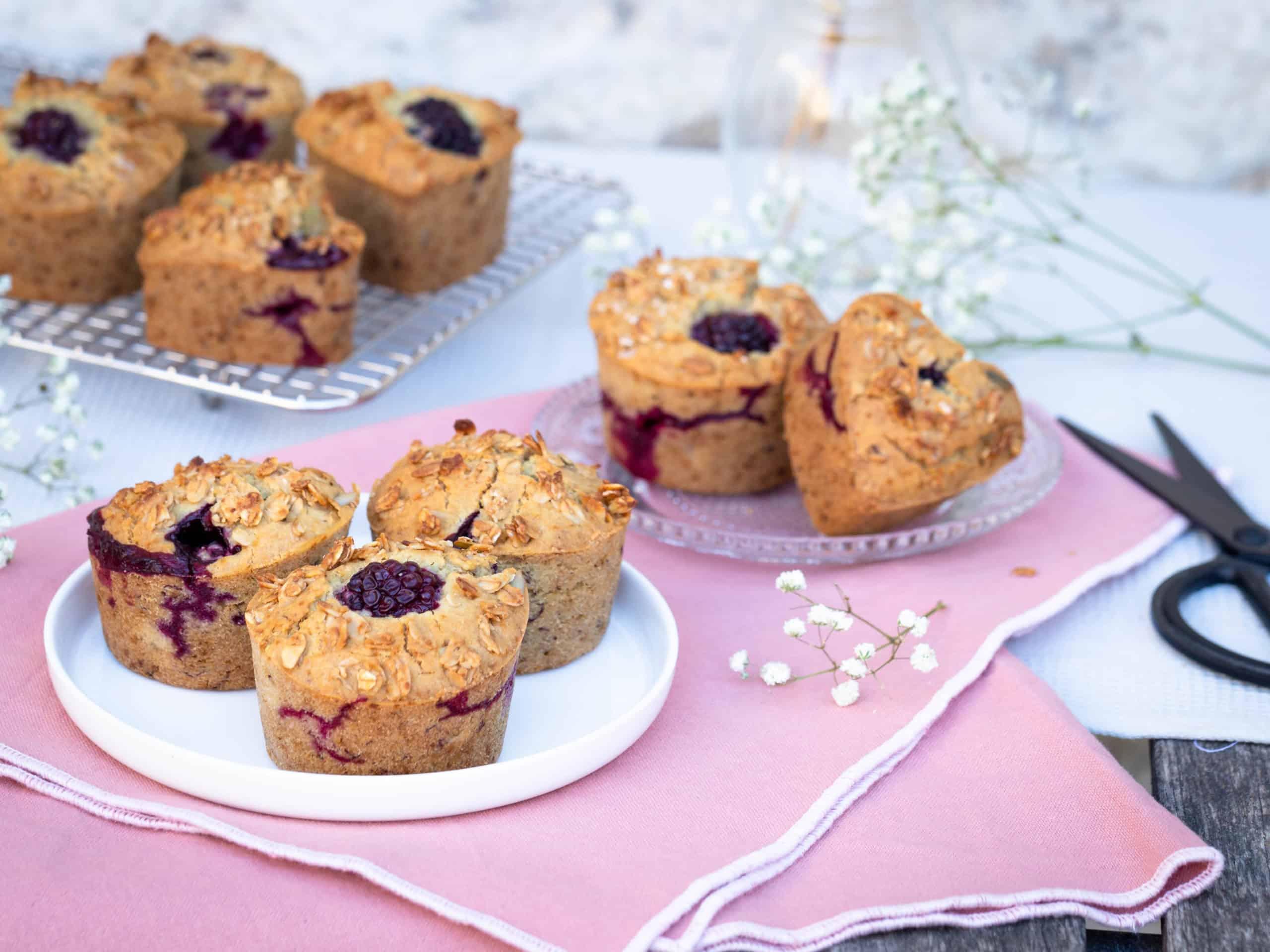 Muffins Mûres Banane (Vegan et Sans Gluten)