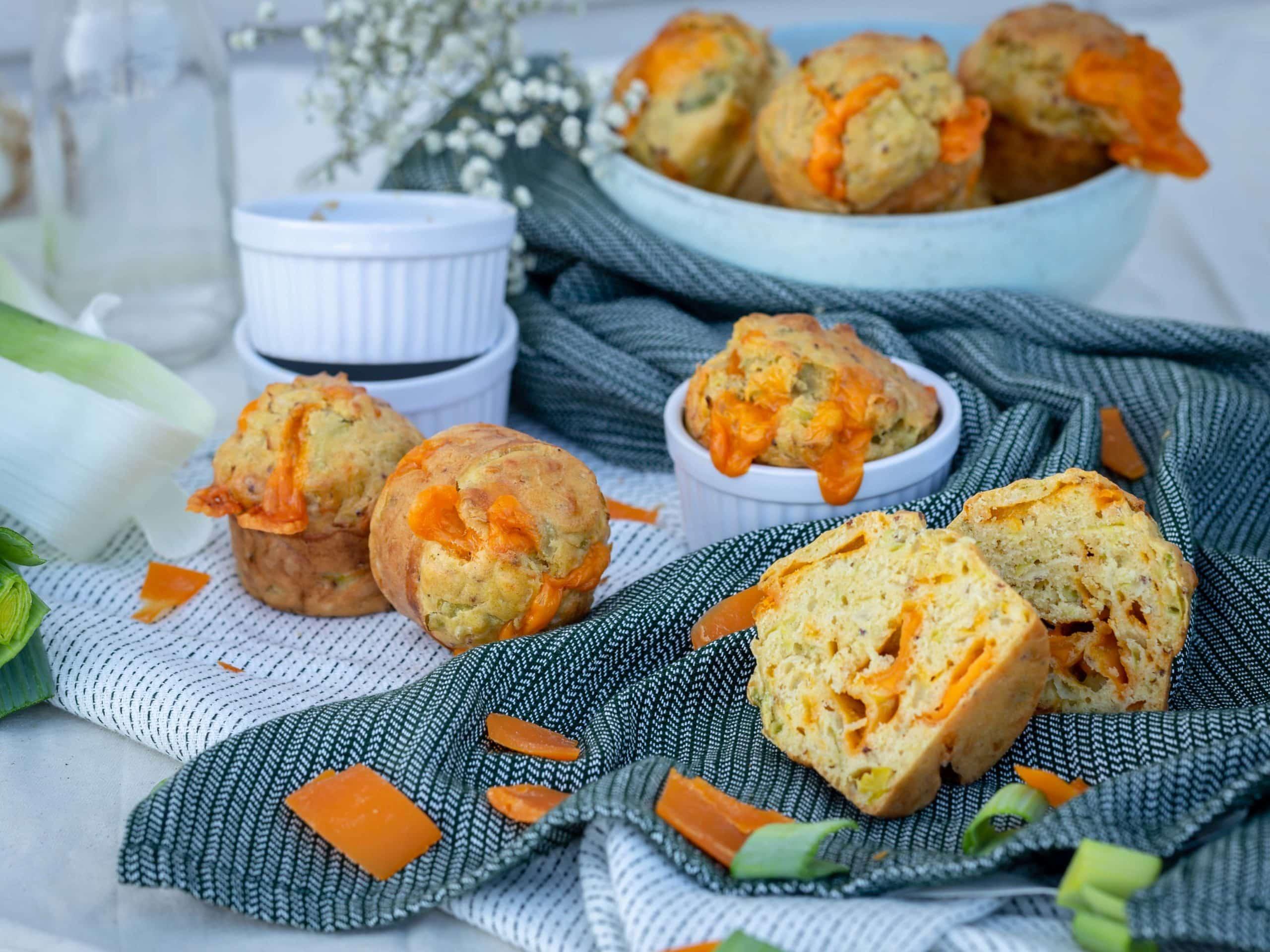 Muffins Poireaux Mimolette (Végétariens)