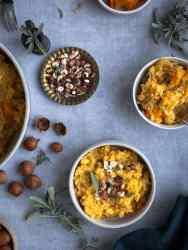 Une recette de risotto vegan à la courge butternut et aux noisettes concassées ! Réconfortant et facile à faire :)