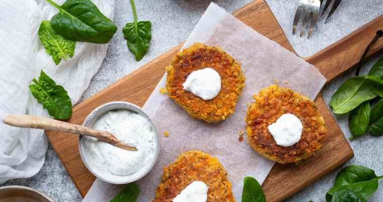 Galettes de Lentilles Corail et Carottes (Vegan et Sans Gluten)