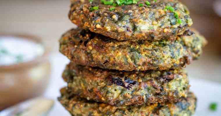 Galettes Végétariennes de Blettes, Quinoa et Comté (Sans Gluten)