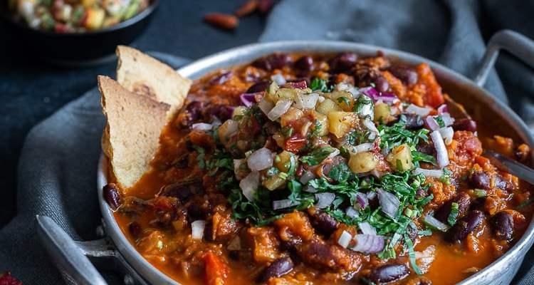 Chili Sin Carne et Salsa à la Pêche (avec le nouveau Cook Processor avec Balance Intégrée de KitchenAid et mon avis sur le robot)