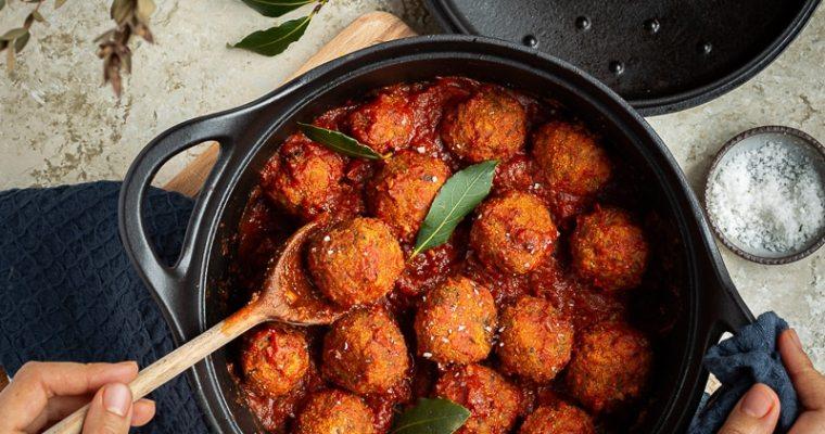 Boulettes de Lentilles et Champignons à la Sauce Tomate (Vegan)