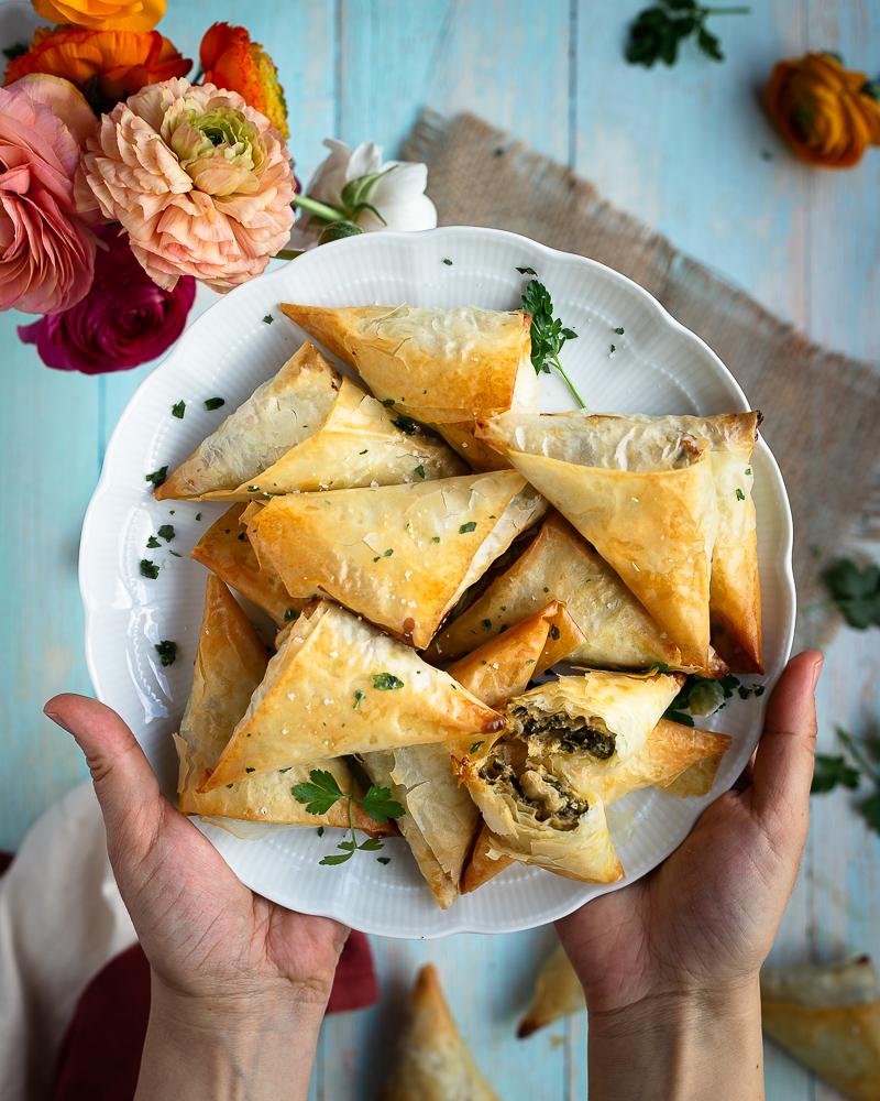 Samoussas aux Blettes, Cumin et Fêta (Végétarien)