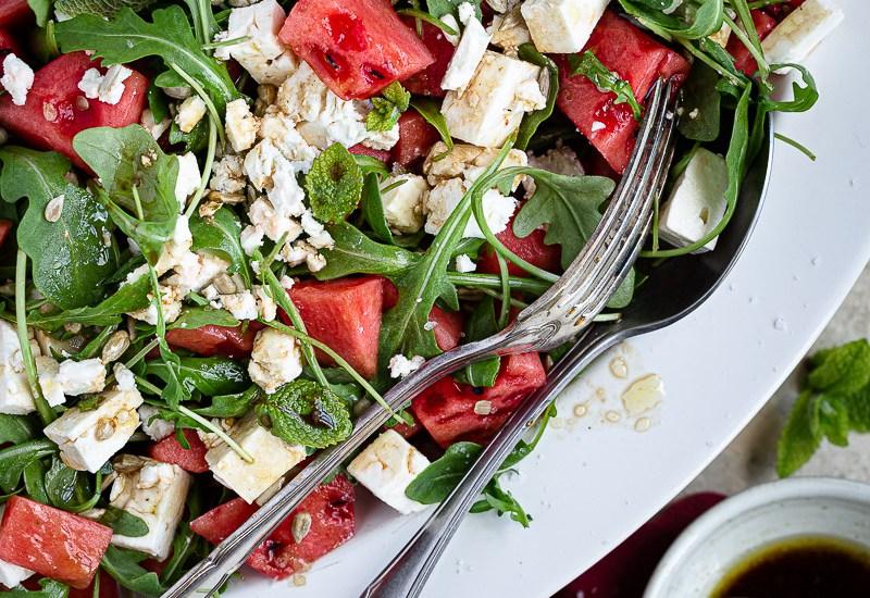 Salade à la Pastèque Roquette et Feta