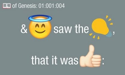 Bible Emoji translates the holy text into a language millennials can understand. Photograph: Bible Emoji/Twitter/Twitter