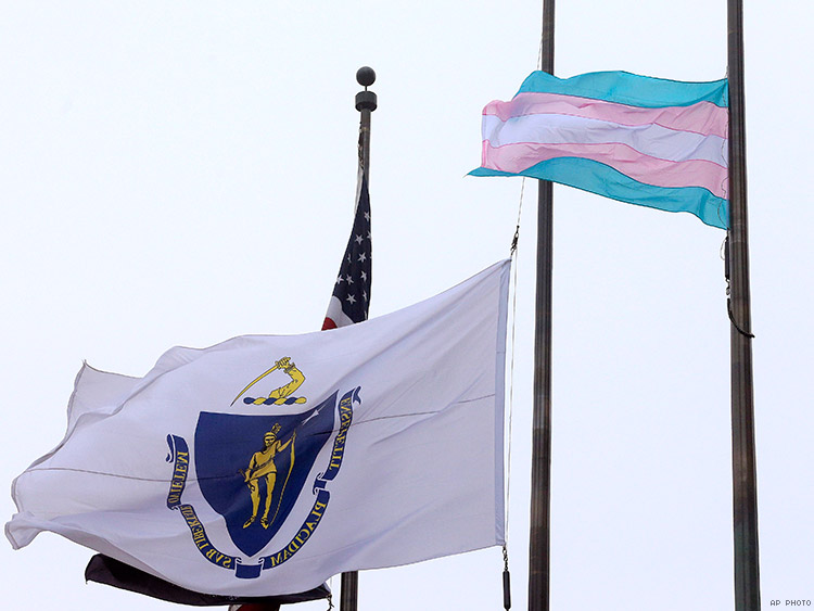 Boston's mayor raised the flag in a show of support for the trans community in Massachusetts.