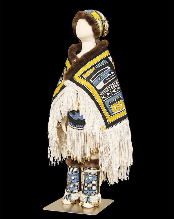 Clarissa Rizal won Best of Division and Best of Chilkat Category for her weaving, Chilkat Child, in the Weaving Division (Chilkat, Ravenstail and basketry). (Photo: Brian Wallace, Courtesy of Sealaska Heritage Institute)