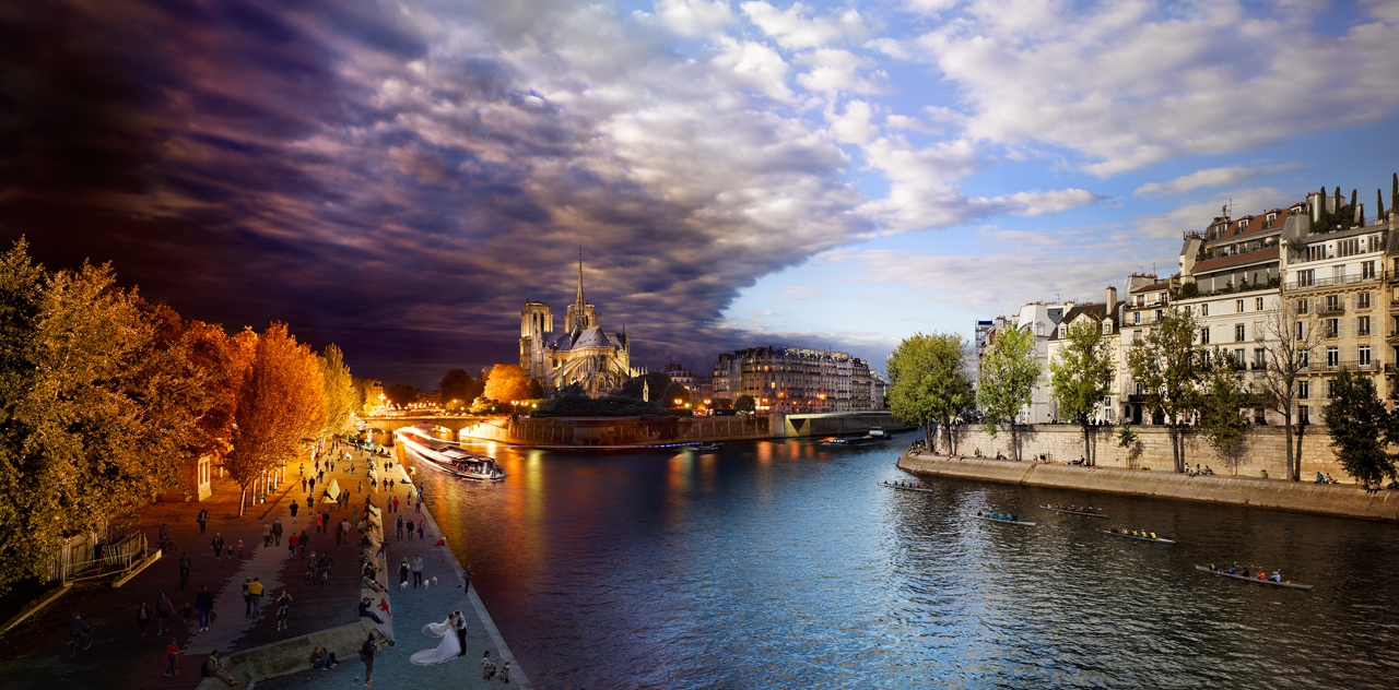 STEPHEN WILKES Pont de la Tournelle, Paris (from the series Day to Night), 2013.