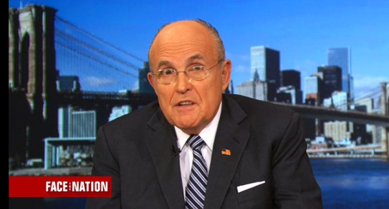 Former New York City Mayor Rudy Giuliani -- (CBS screen grab)