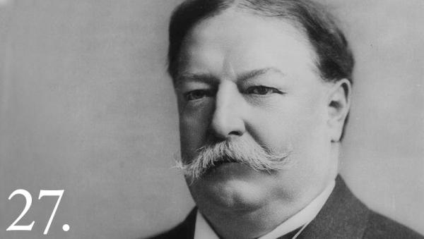 William Howard Taft took office in 1909, the same year America's first permanent movie studio opened in Fort Lee, New Jersey.