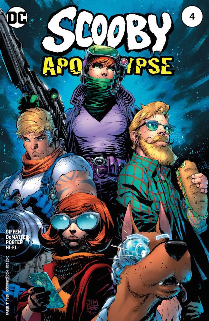 Cover for Scooby Apocalypse #4. Cover illustrated by Jim Lee with Alex Sinclair. Photo courtesy DC Comics.