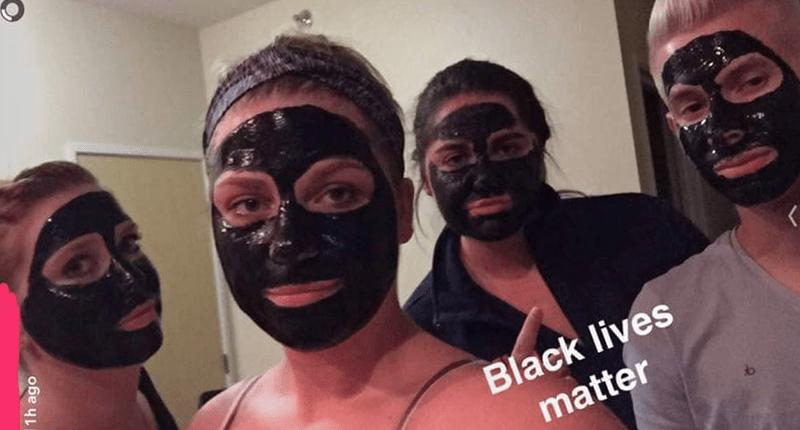 More University of North Dakota students wear blackface (Photo: Facebook).