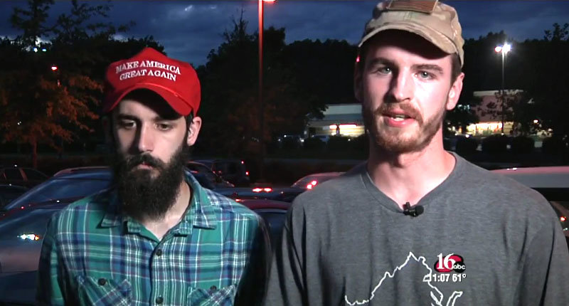 Pro-Trump protester Daniel Parks and a friend (NEWSPLEX).