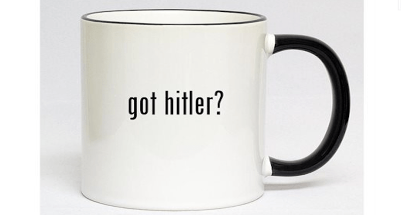 """Got Hitler?"" mug. Screenshot."
