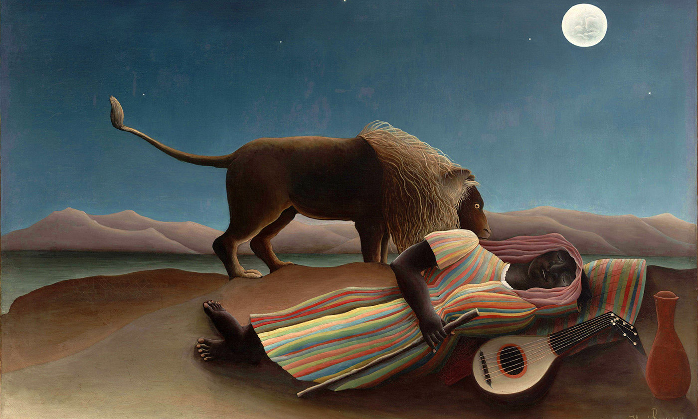 The Sleeping Gypsy 1897, by Henri Rousseau. Courtesy Wikimedia.