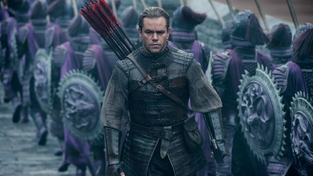 Matt Damon as William Garin in The Great Wall. Jason Boland/Universal Pictures.