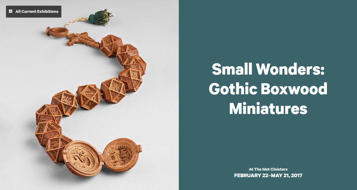 Gothic Boxwood Miniatures.