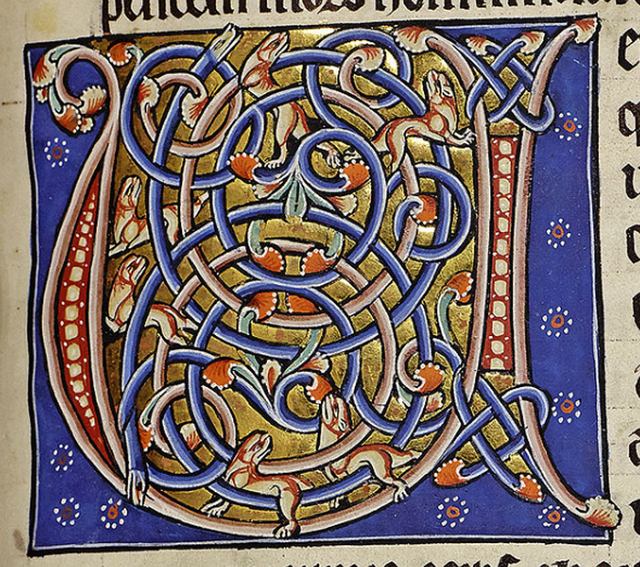 The next section of creatures, basically insects, otherwise called worms, is heralded by the major initial letter, type 3.