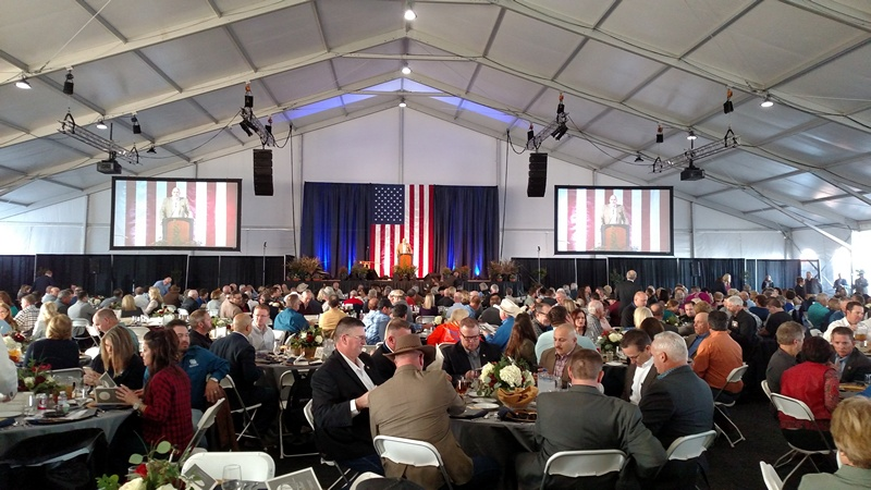 Capitol Ministries' February 13, 2018 fundraising dinner at the World Ag Expo.