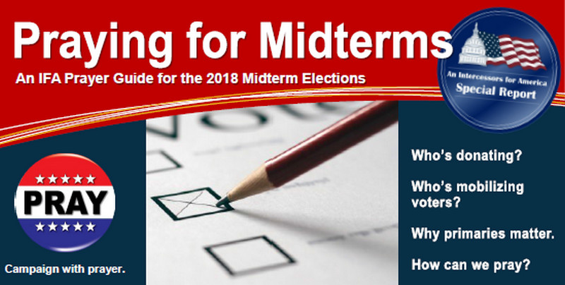 Image from Intercessors for America guide to the 2018 midterm elections.