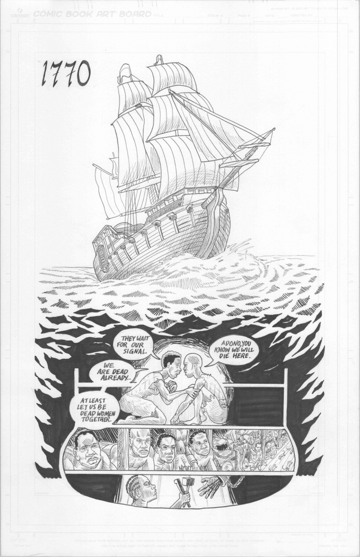 Page from Wake by Rebecca Hall and Hugo Martinez (all images courtesy Hugo Martinez).