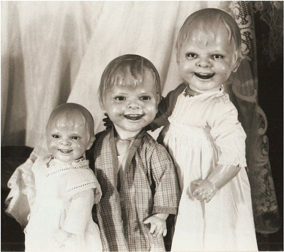 Three Dolls, Vintage Warehouse.