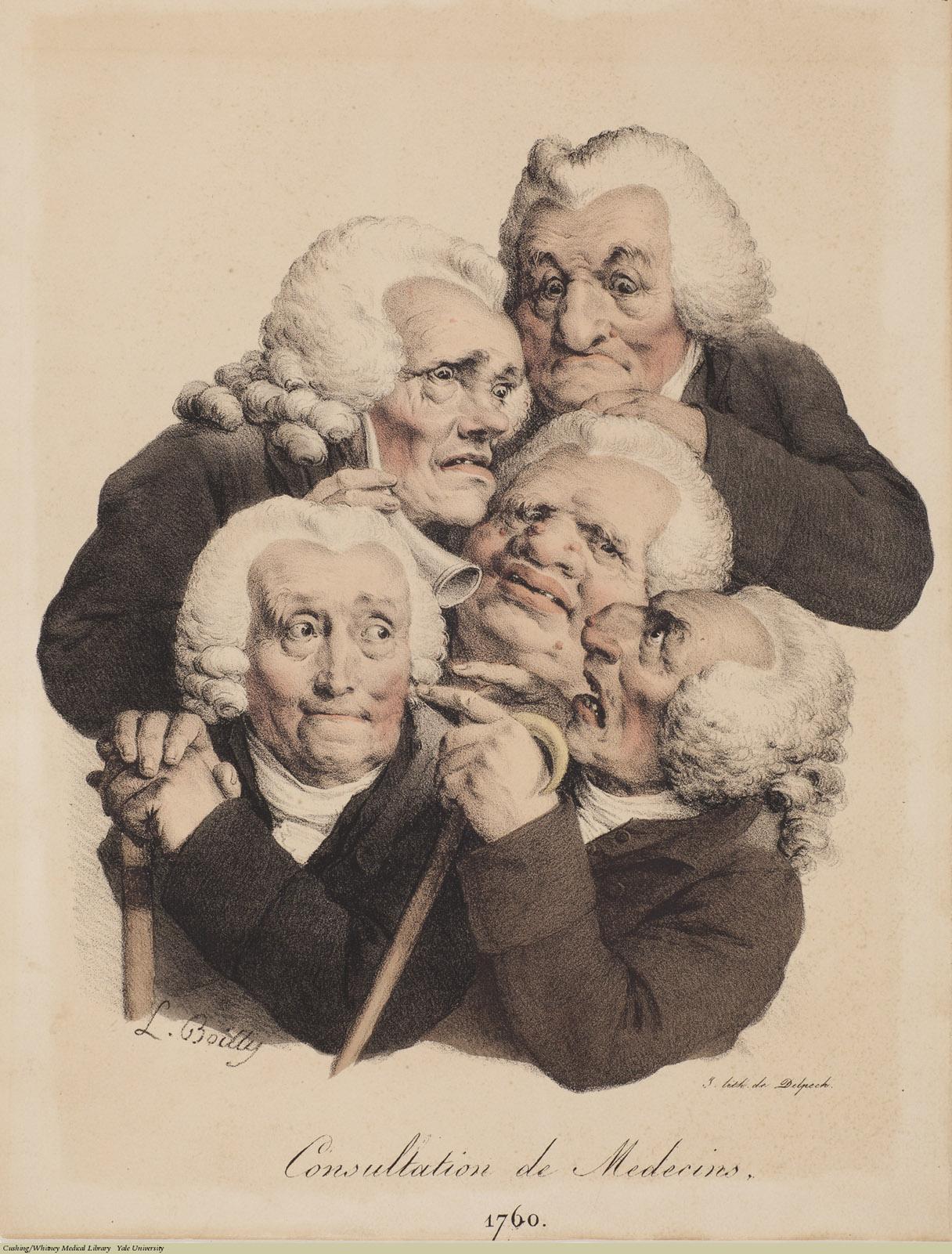Consultation de Medecins. 1760, Lithograph, Louis-Léopold Boilly.