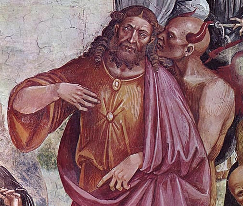 Detail from Sermon and Deeds of the Antichrist, Luca Signorelli, San Brizio Chapel.