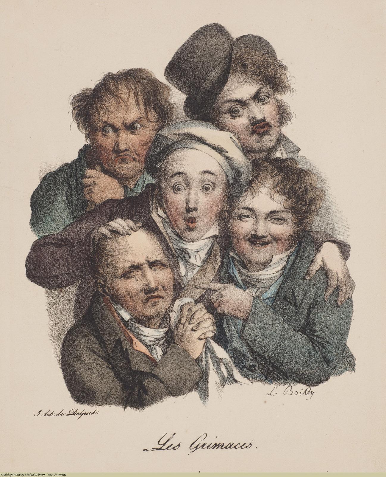Les Grimaces 1, Louis-Léopold Boilly, 1823.