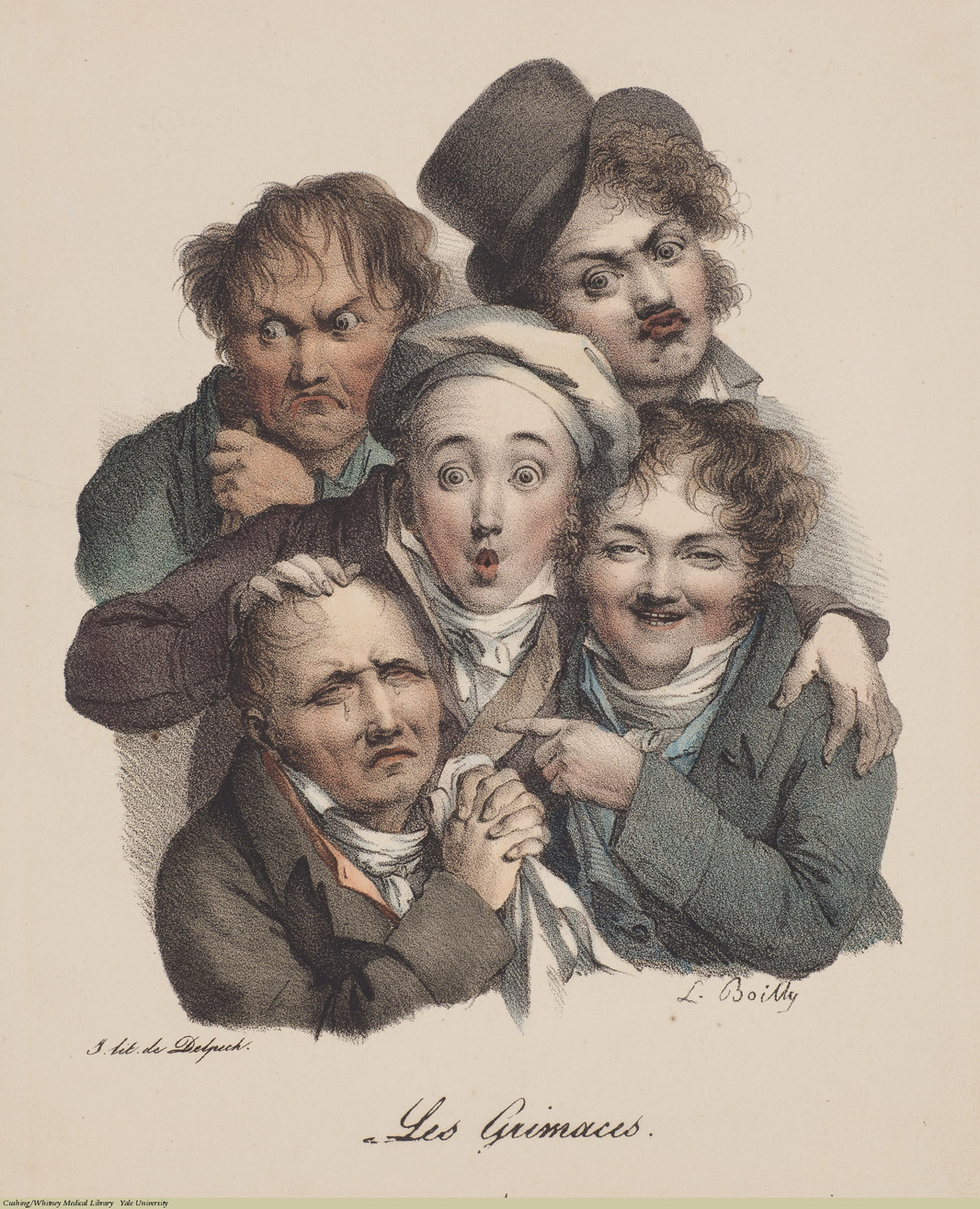 Les Grimaces 1, Louis-Léopold Boilly, 1823.