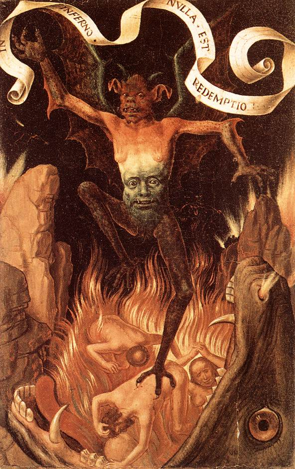 Detail of Satan from Hans Memling's Triptych of Earthly Vanity and Divine Salvation (c. 1485).
