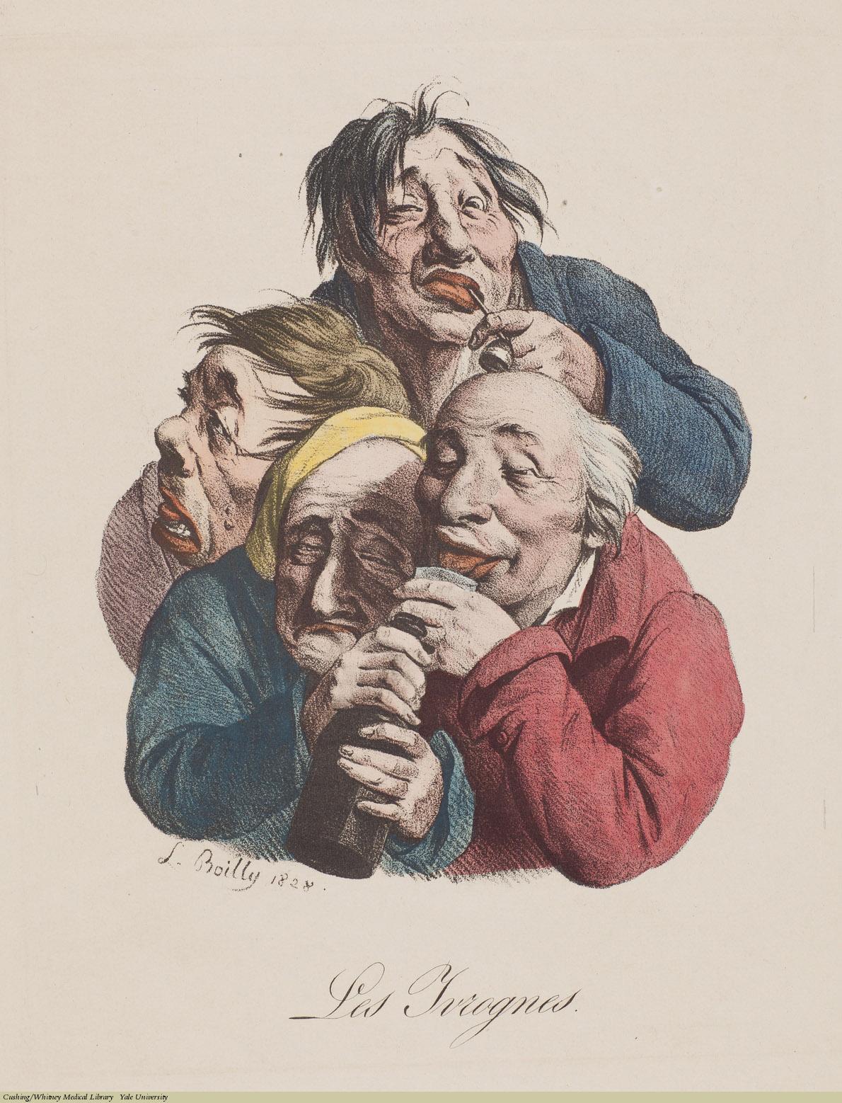 Les Ivrognes, Louis-Léopold Boilly, Lithograph, 1828.