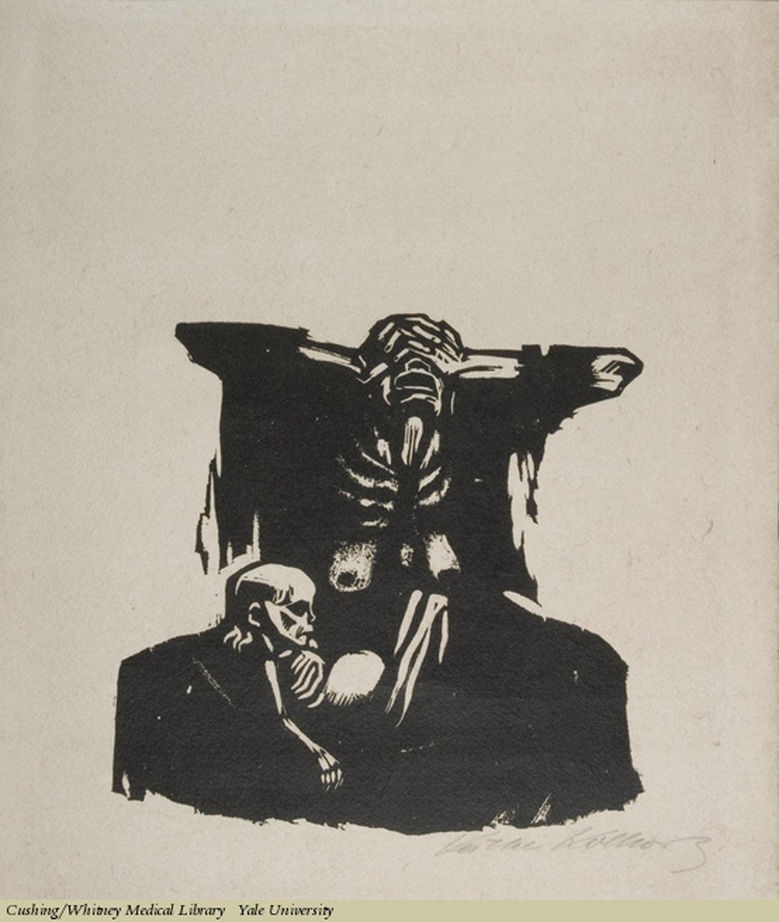 Hunger, Kathe Kollwitz,Woodcut on laid paper, 1922. Subject: Hunger, Malnutrition.