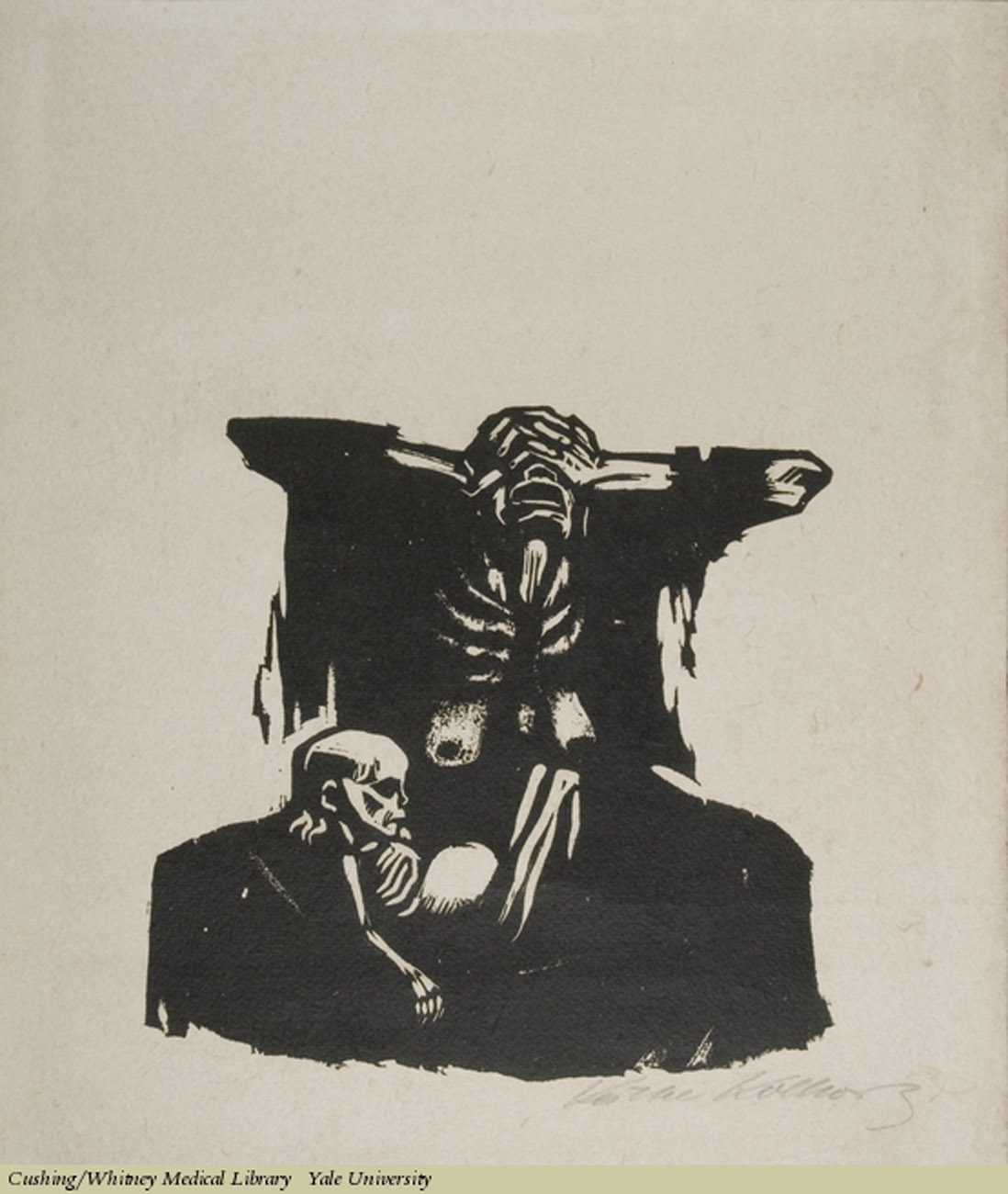 Hunger, Kathe Kollwitz,Woodcut on laid paper, 1922. Subject: Hunger, Malnutrition.