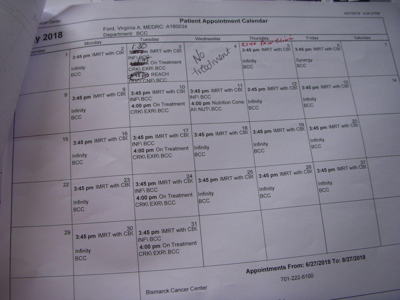 Radiation Calendar.