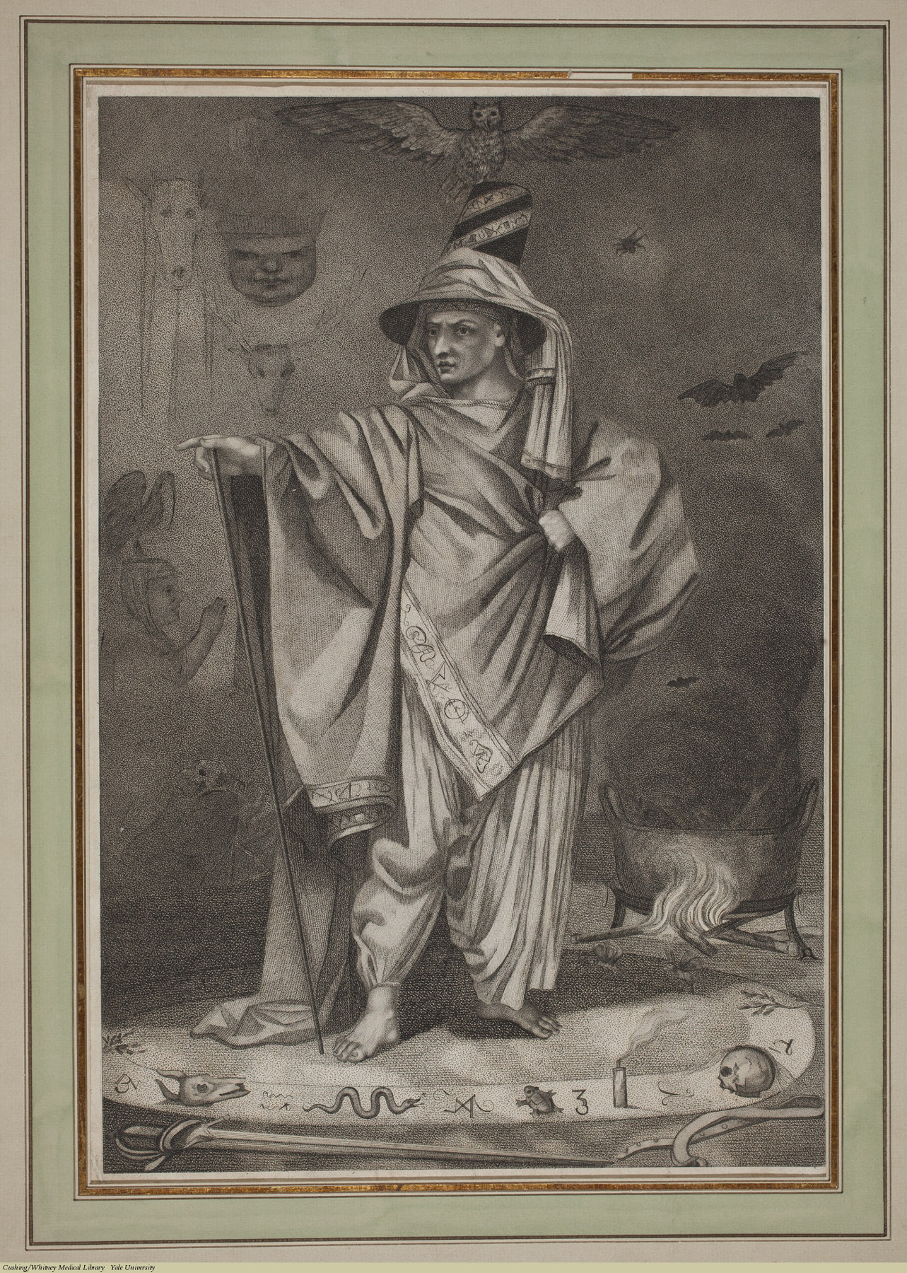 A Wizard. Anonymous, 18th Century. Subject: Wizards.