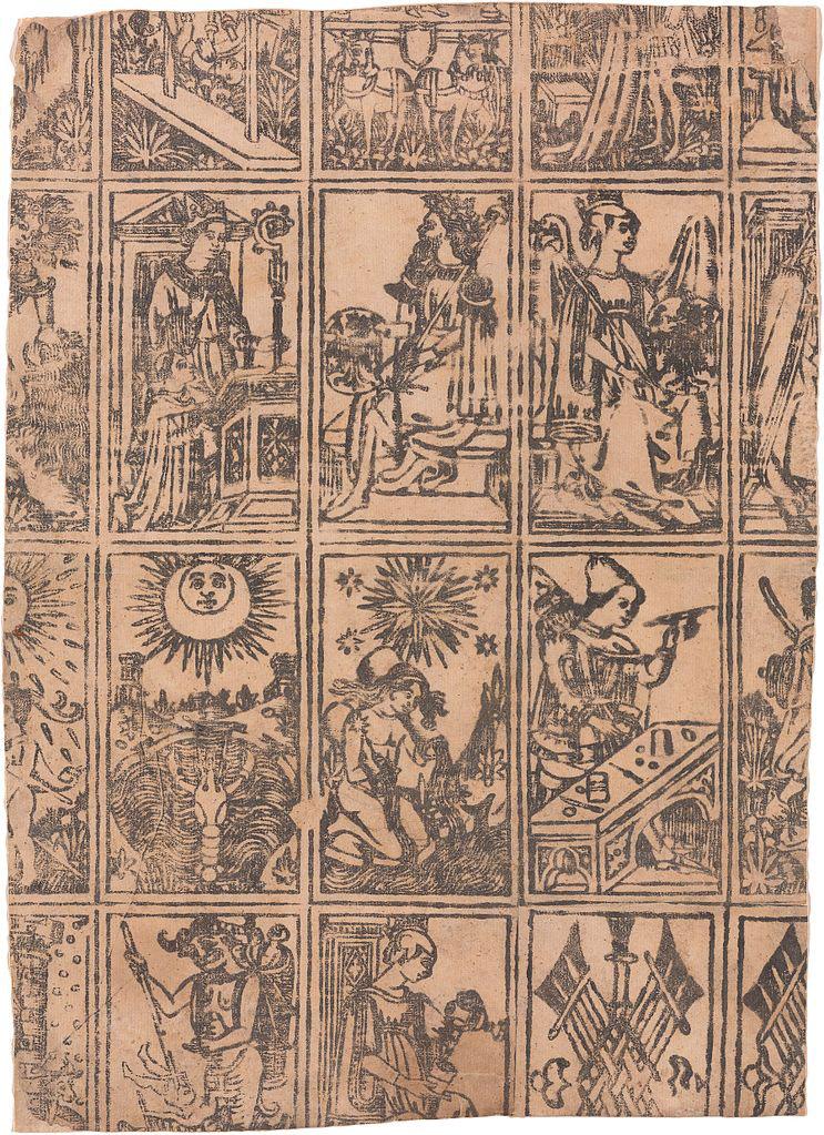 Milanese tarocchi, c. 1500.