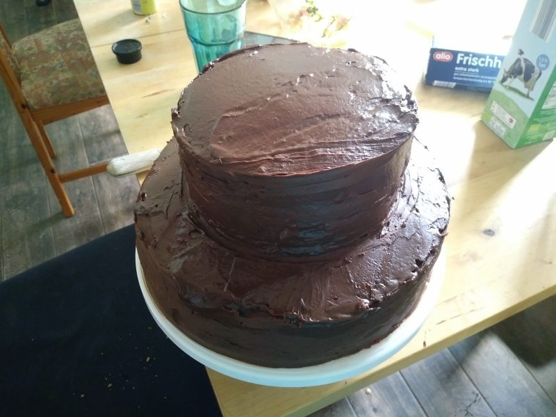Choclate frosted cake