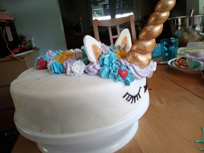 Finished Unicorn cake