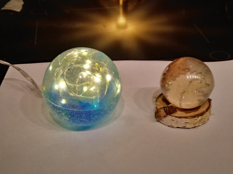 Resin globes