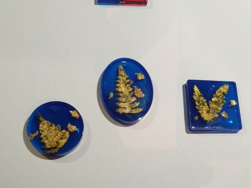 blue pendants