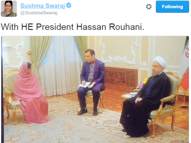 From Twitter feed of Sushama Swaraj